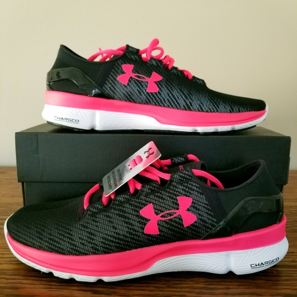 womens black and pink under armour